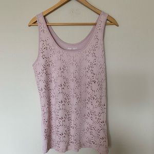 Floral overlay pink tank🌼